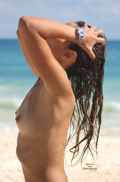 Topless Nudist - Brunette Hair, Long Hair, Small Tits, Topless , Long Brunette Hair, Topless On Beach, Wet Woman, Itty Bitty Titties, Topless Beach, Wet Hair, Tanlines, Wet Skin