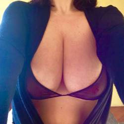 Very large tits of my wife - Bustywife