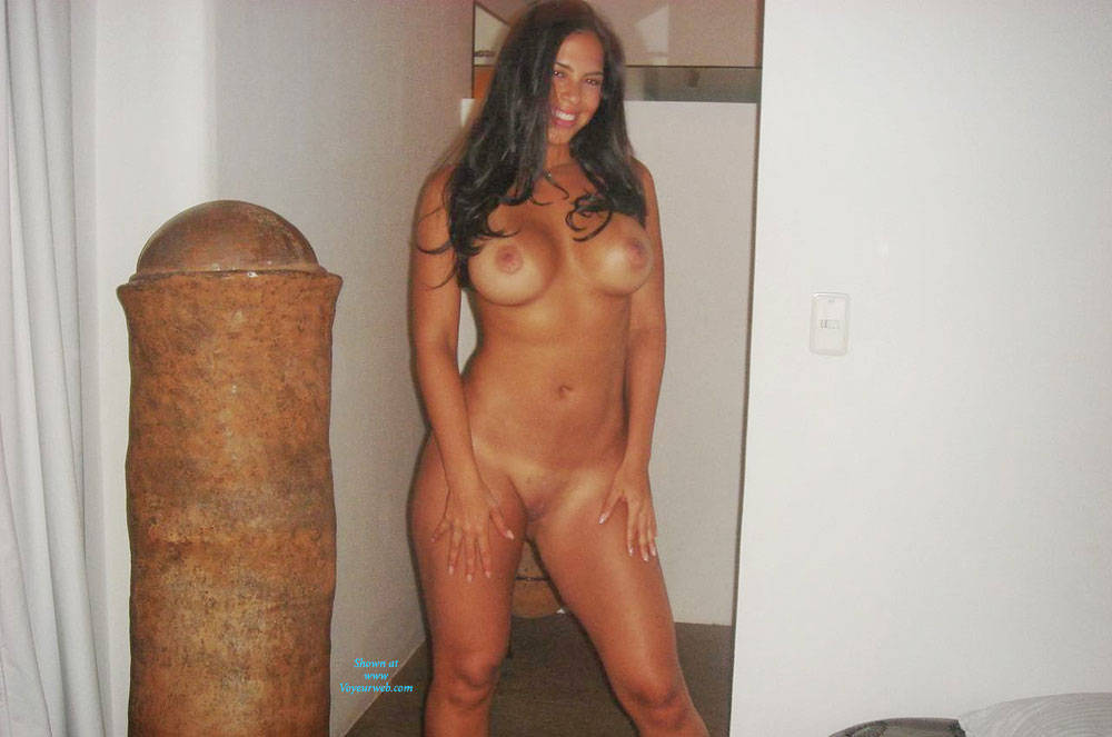 Pic #1 Columbian Girl In Bedroom   Big Tits, Brunette, Shaved