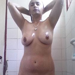 Latina Girl In Shower - Big Tits, Brunette