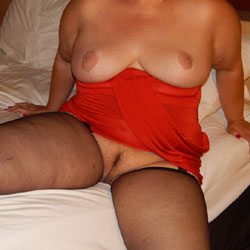 My Red Dress - Big Tits, Lingerie
