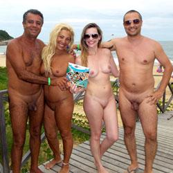 Tambaba Beach - Blonde, Beach, Natural Tits