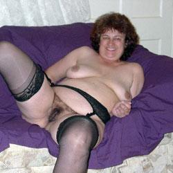 SexKittenKel In Black Stockings  - Lingerie, Brunette, Big Tits, Bush Or Hairy