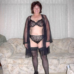 SexKittenKel In Black Stockings PT 2 - Big Tits, Brunette, Lingerie, Bush Or Hairy