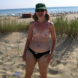 Olga At Black Sea - Beach, Medium Tits