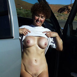 Various Car Shots - Big Tits, Brunette