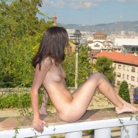 Theatre Park 2 - Brunette Hair, Nude In Public