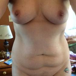 Small tits of my wife - Justine