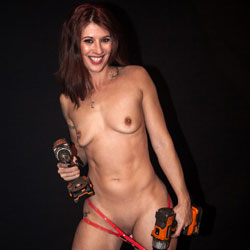 Naked Handyman Girl - Brunette Hair, Full Nude, Nipples, Small Tits, Naked Girl, Sexy Body, Sexy Girl, Sexy Legs