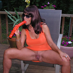 Lets Eat! - Big Tits, Brunette, Masturbation, Outdoors, Toys