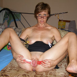 naked wife spread legs My
