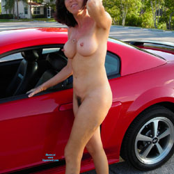 Riding The Pony - Big Tits, Public Exhibitionist, Public Place, Bush Or Hairy