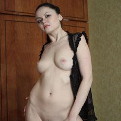 Adriana - Lingerie, Brunette, Big Tits, Shaved