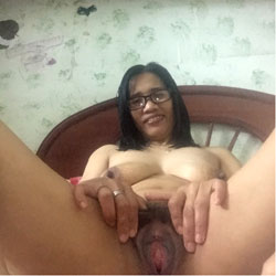 My Hairy Filipina Pussy - Bush Or Hairy, Brunette, Big Tits, Asian