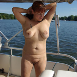 Chilling On A Lake - Big Tits