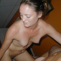 Small tits of my wife - Dawn