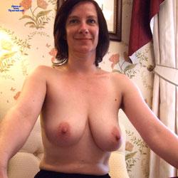 Red Stockings - Big Tits, Brunette, Lingerie