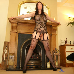 Mrsinsatiables Stockings - Big Tits, Brunette Hair, Heels, Sexy Lingerie