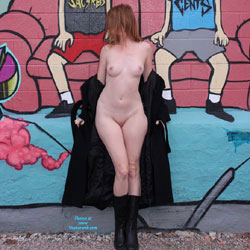 Graffiti Walls Downtown - Medium Tits