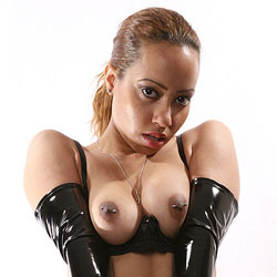 Her Rubber Gloves - Big Tits, Body Piercings