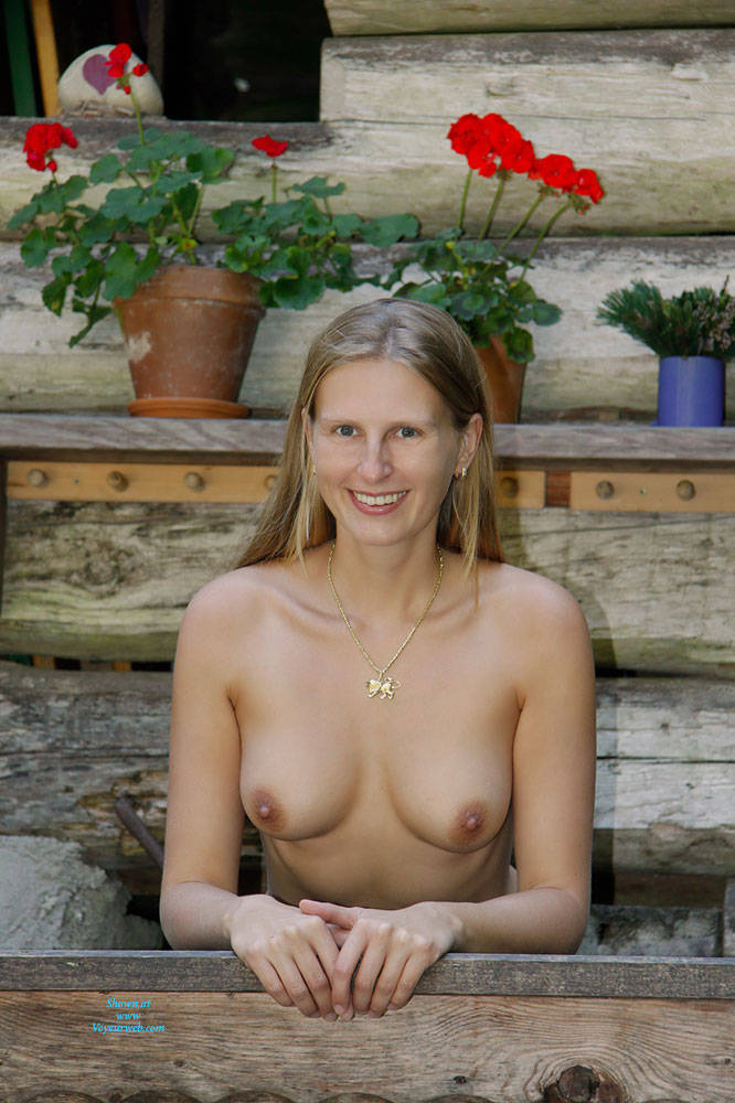 Pic #2 Bri In The Woods - Nature, Big Tits, Shaved
