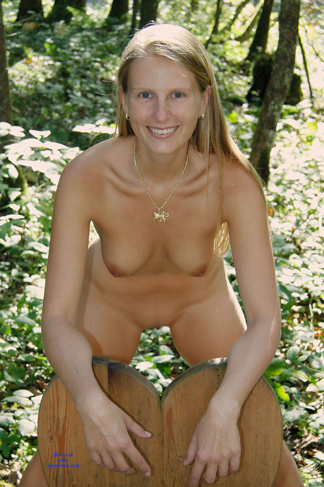 Pic #5 Bri In The Woods - Nature, Big Tits, Shaved