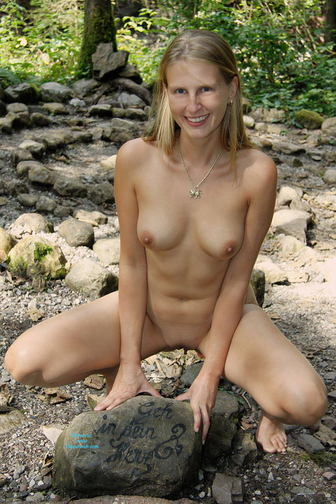 Pic #9 Bri In The Woods - Nature, Big Tits, Shaved