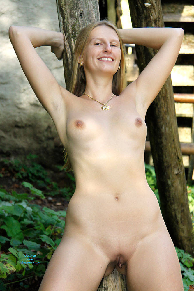 Pic #10 Bri In The Woods - Nature, Big Tits, Shaved