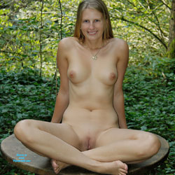 Bri In The Woods - Nature, Big Tits, Shaved