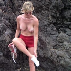 Just Can't Keep Those Clothes On - Beach, Big Tits, Wife/Wives