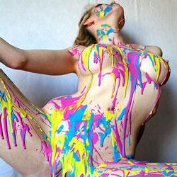 Laxtex Paint Play - Big Tits, Close-Ups