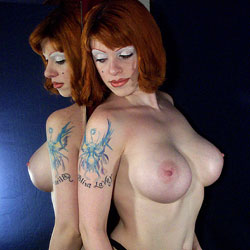 Showing Off - Big Tits, Redhead, Tattoos