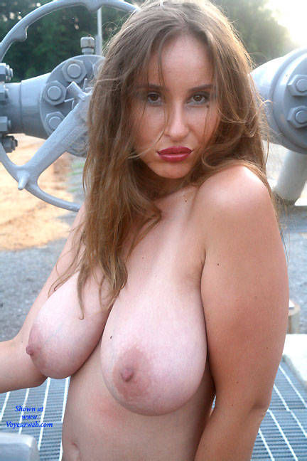 All Natural - Boobs In The Gas Field - May, 2016 - Voyeur Web-3420