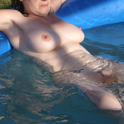 Sunny Naked At Pool - Big Tits, Brunette