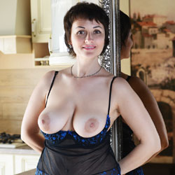Sophia Near The Mirror - Big Tits, Brunette, Lingerie, Shaved