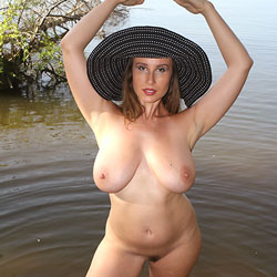 Hat At The Lake - Big Tits