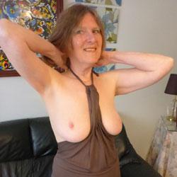 Skimpy Top And Panties - Big Tits, Brunette