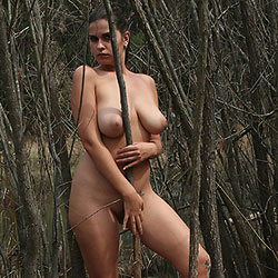 In The Trees - Big Tits, Brunette, Nature