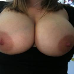 Very large tits of my wife - Molly