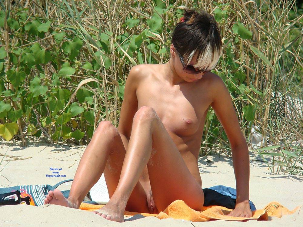 pussy lips showing on beach