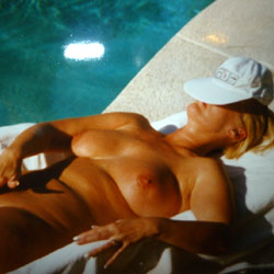 Lady's Nude Sunbathing - Big Tits, Mature