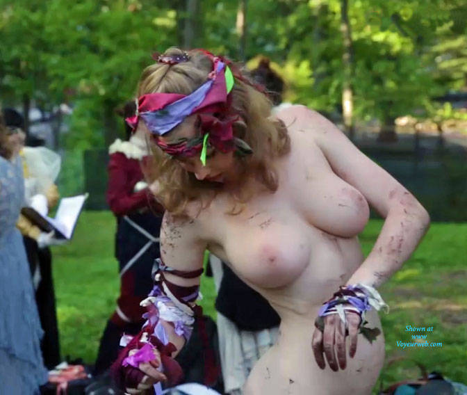 Naked Costumed At The Park - Big Tits, Blonde Hair, Exposed In Public, Nude In Public, Nude Outdoors, Showing Tits, Sexy Figure, Sexy Girl, Costume , Costume, Naked, Sexy, Big Tits, Naked In Public, Blonde