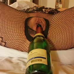 Sparkling Wine Filled Pussy - Close-Ups, Lingerie