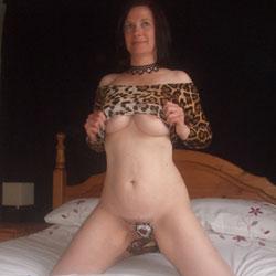 Leopard Print - Big Tits, Brunette