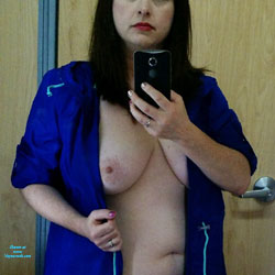 Out Shopping With My Husband...Again! - Big Tits, Brunette, See Through, Wife/Wives