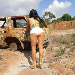 Selma Brasil And Burned Car - Brunette