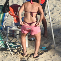 Pink Shorts From Janga Beach - Beach Voyeur