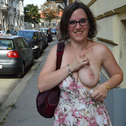 Hot Summer In Vienna 2015 - Big Tits, Brunette, Flashing, Public Exhibitionist, Public Place