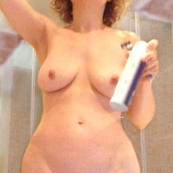 Taking A Shower  - Big Tits, Bush Or Hairy