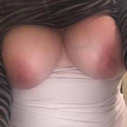 Very large tits of my wife - Sexy MILF wife